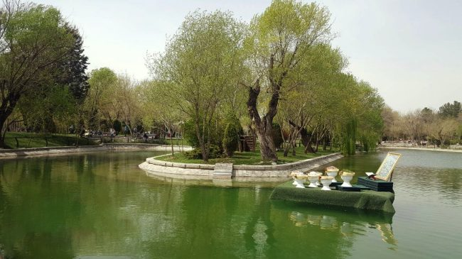 دریاچه بوستان پارک مشهد