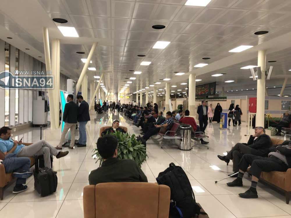 سالن انتظار فرودگاه مهرآباد
