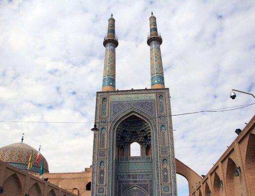با این مسجد یزد حتما عکس بگیرید