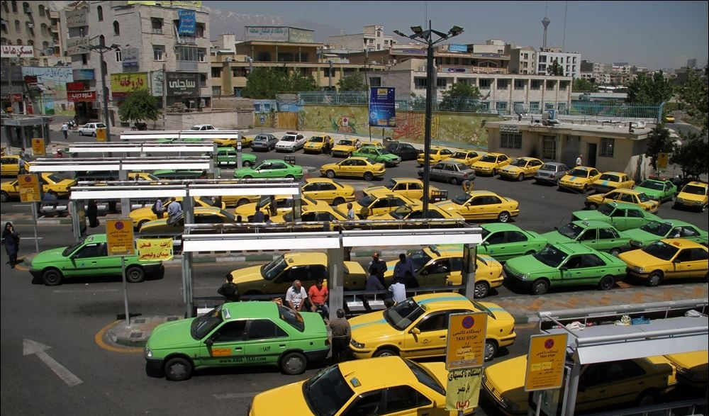 a taxi stand in Tehran
