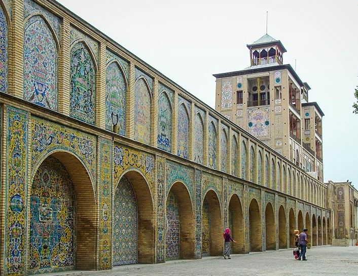 Shams ol-Emareh in older parts of Tehran
