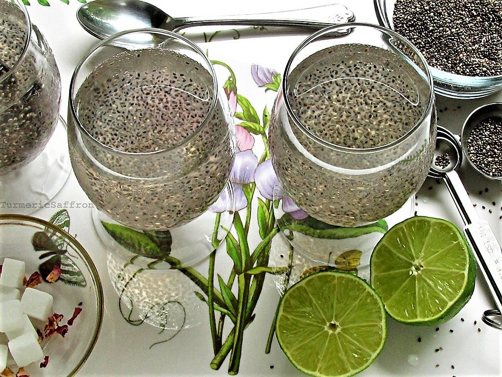 Chia seeds sharbat