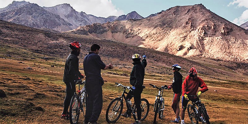 Cycling around Dorna Camp