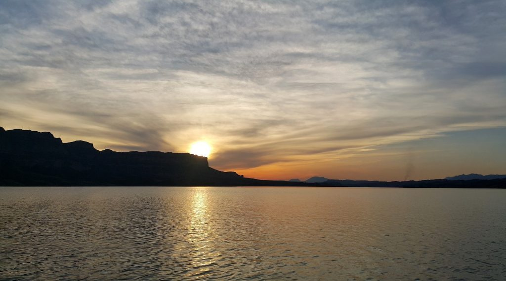 Sunset-at-Dez-Dam Lake or Shahyoun Lake