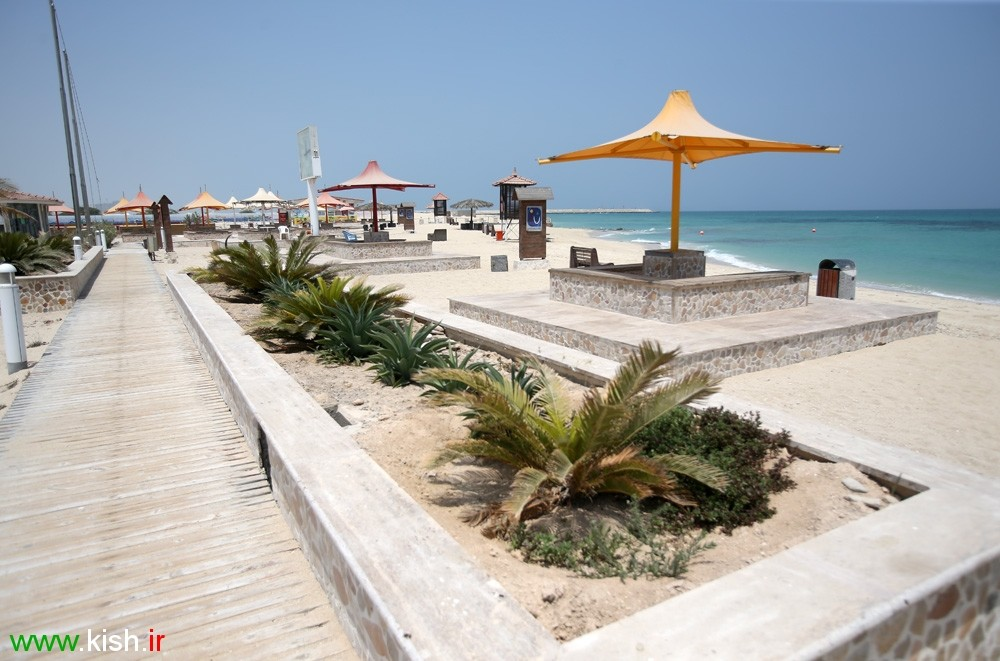 Kish Tourism: the Ladies Beach in Kish Island