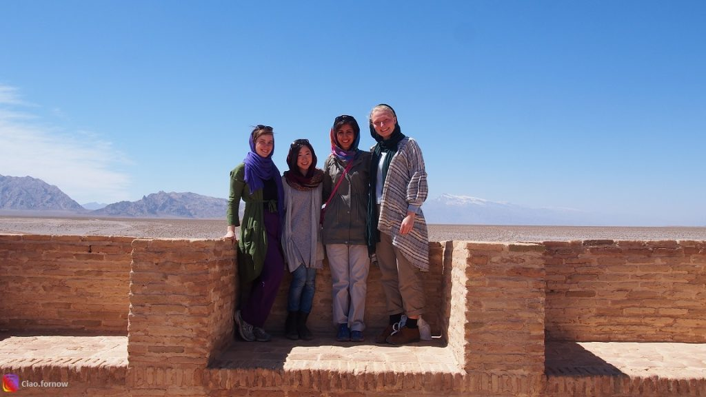 Iran Travel Advice: An example of female tourists' clothing.