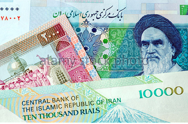 Iranian bills are printed in rial.