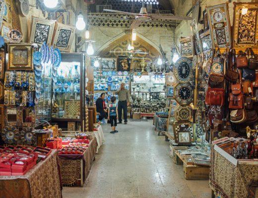 Shiraz shopping malls and bazaars
