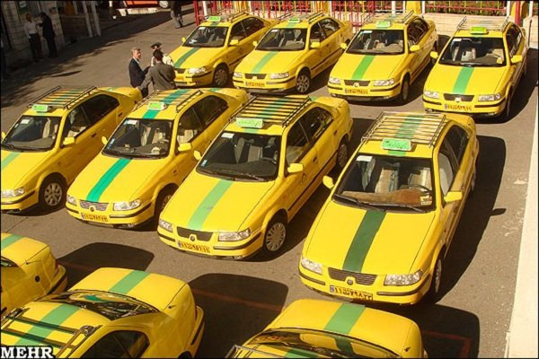 Official Yellow-Colored Taxis of Iran
