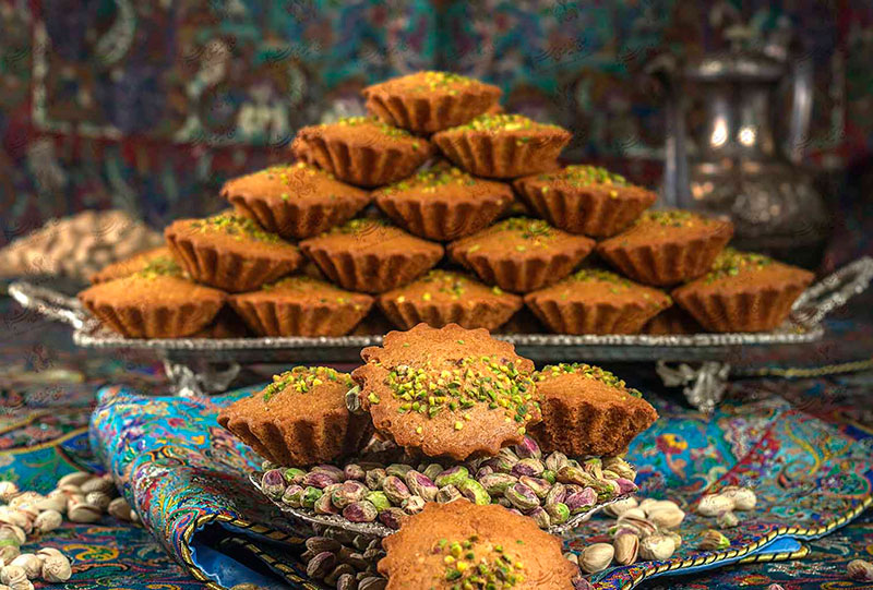 Yazdi Cake assorted in a beautiful manner.