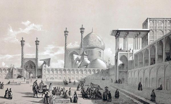 painting of naghshe jahan square